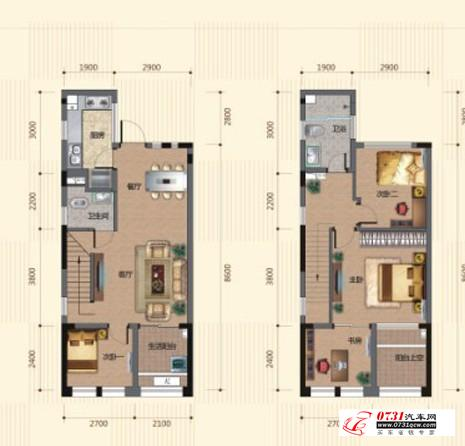 正文  十二, 户型图        43平方1房1厅(单身公寓)       海洋半岛